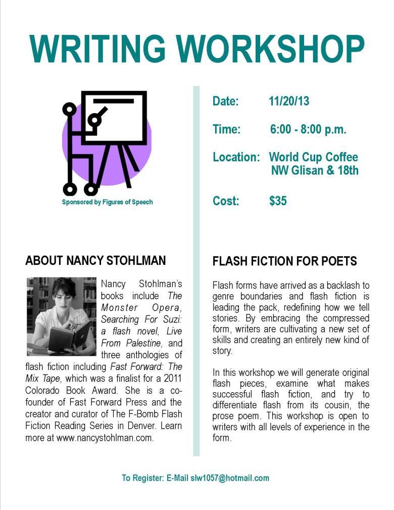 Workshop Flyer -- Nancy Stohlman